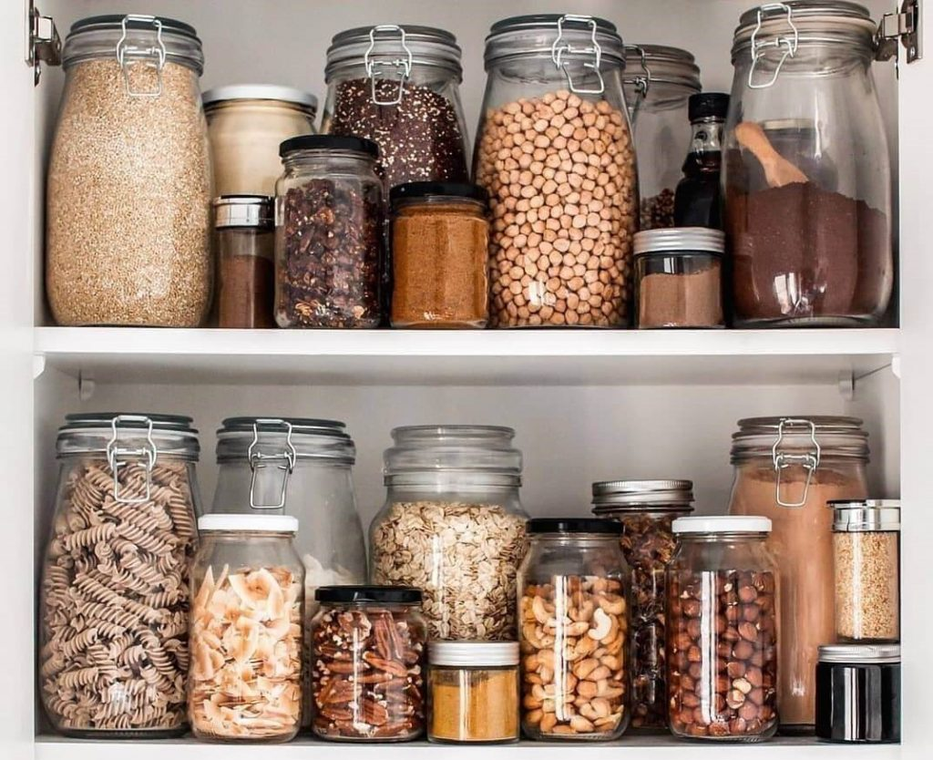 zero waste vegan pantry