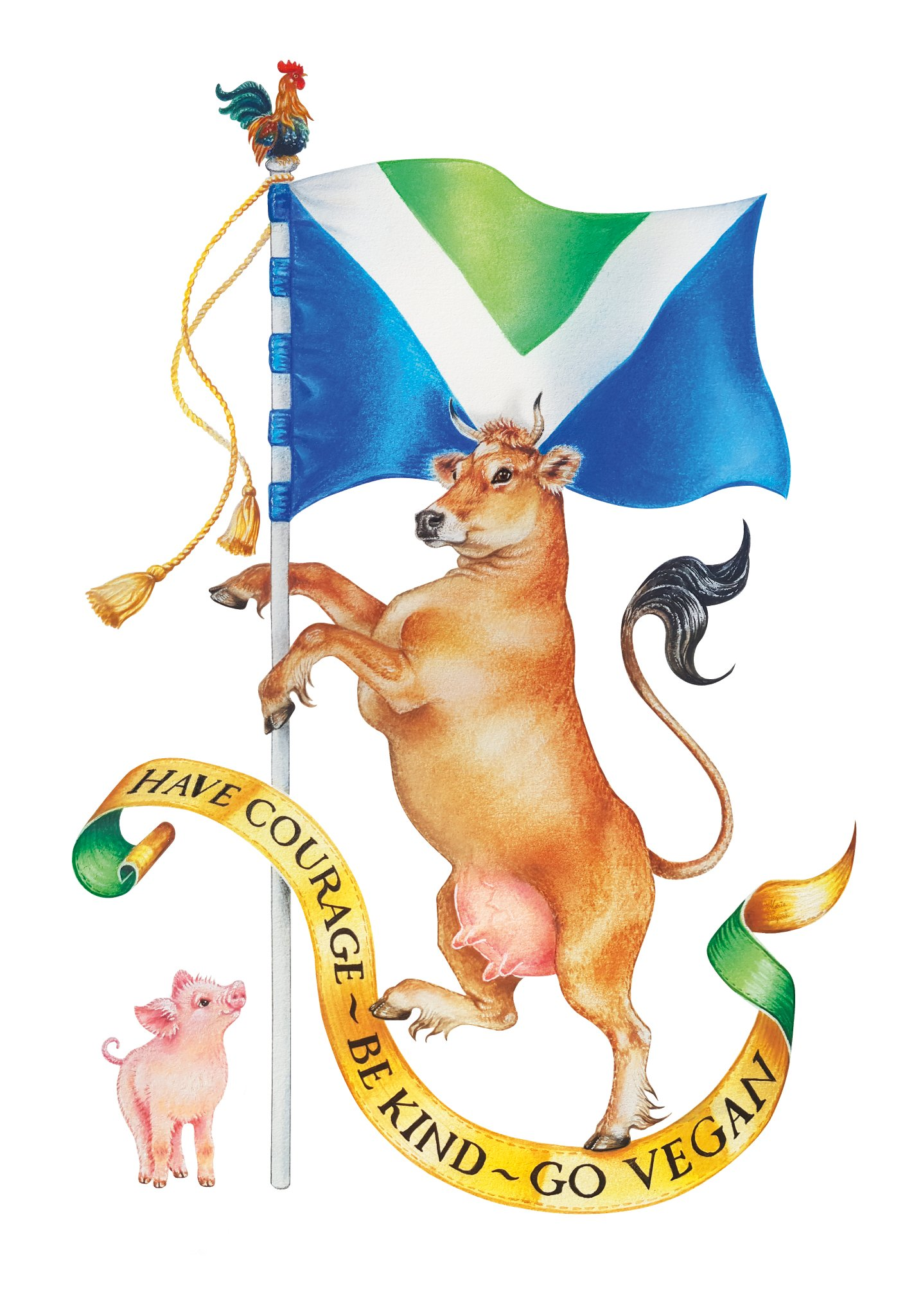 vegan flag coat of arms